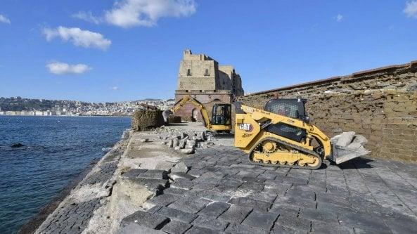 Napoli, al via i lavori a Castel dell'Ovo: la messa in sicurezza del Ramaglietto